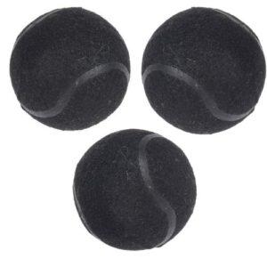 Orange85 Honden tennisbalset Zwart 3 stuks