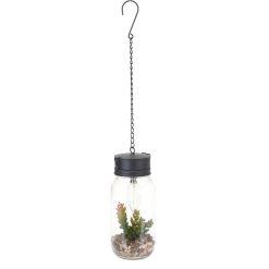Hanglamp met plant vooraanzicht