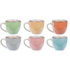Orange85 Kopjes Espresso set van 6 Aardewerk