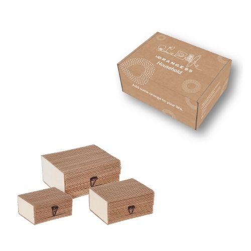 Orange85 Opbergbox Opbergdoos met deksel bamboe 3-delig