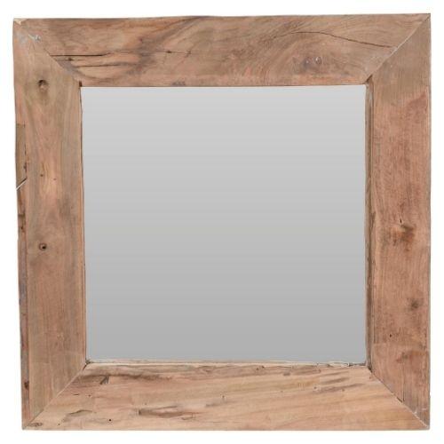Orange85 Vierkante Spiegel Wand Hout