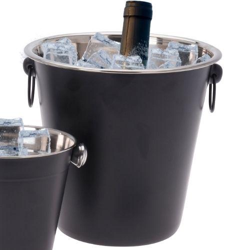 Orange85 Cocktail Set Bar 4-delig Cocktailshaker IJsemmer IJstang Flessenkoeler RVS Zwart