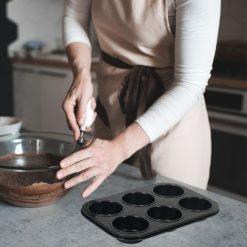 Orange85 Cupcake Vormpjes voor 12 Muffins Zwart