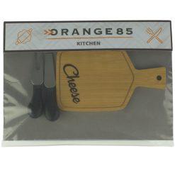 Orange85 Kaasplank met Messen Bamboe Set 3 Stuks
