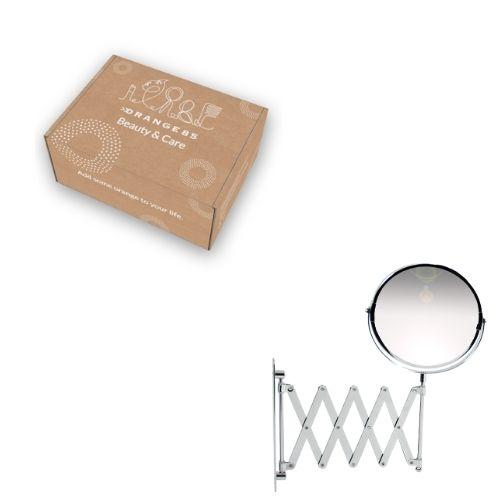 Orange85 Make-up Wandspiegel Harmonica 2x Vergrotend Zilver