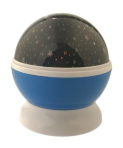 Orange85 Nachtlampje sterrenlamp roterend Blauw