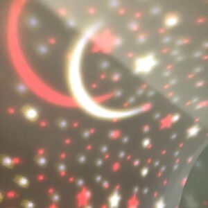 Orange85 Nachtlampje sterrenlamp roterend Blauw (3)