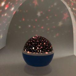 Orange85 Nachtlampje sterrenlamp roterend Blauw (4)