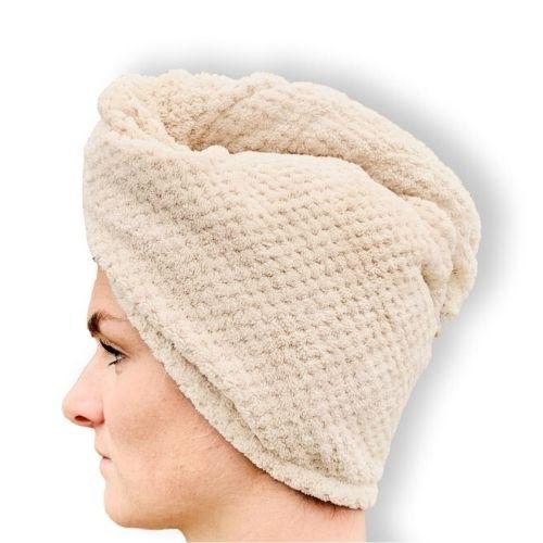 Orange85 Haarhanddoek Luxe Microvezel Quick Dry Beige