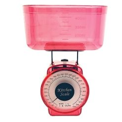 Orange85 Keukenweegschaal met Kom Rood 2 Stuks Compact Analoge 1_voor