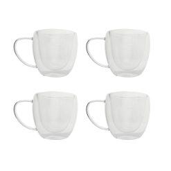 Orange85 Koffieglazen Dubbelwandig Glas met Oor 4 Stuks2_detail