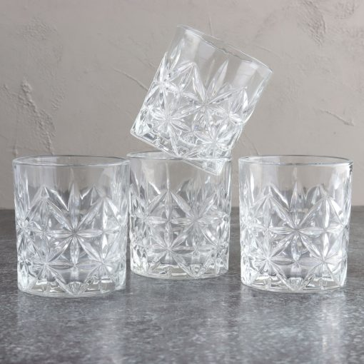 Orange85 Whiskey Glazen Set van 4
