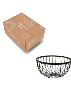Orange85 Fruitschaal Wire Zwart Metaal ⌀25cm 5_ verpakking