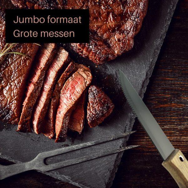 Orange85 Grote Steakmessen Mat Zwart 4 Stuks 2