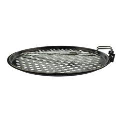 Orange85 Pizzapan voor BBQ Metaal 33cm Zwart 3_zijkant
