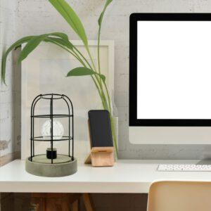 Orange85 Tafellamp met Betonlook en Metalen Frame 2_sfeer