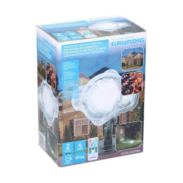 Grundig LED Projector Lamp Sneeuwvlokken_verpakking