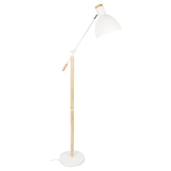 Grundig Vloerlamp Elegant 145 cm Wit Blanke Hout 1_voorkant
