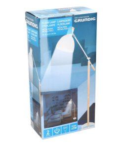 Grundig Vloerlamp Elegant 145 cm Wit Blanke Hout 5_verpakking