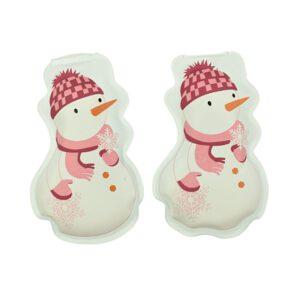 Orange85 Handwarmers Herbruikbaar Sneeuwpop Vorm stuks 1_vooraanzicht