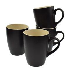 Orange85 Koffiekopjes 240ml 4 stuks Matzwart 1_voor