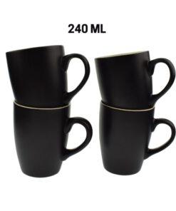 Orange85 Koffiekopjes 240ml 4 stuks Matzwart 2_usp