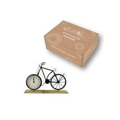 Tafelklok fiets in verpakking