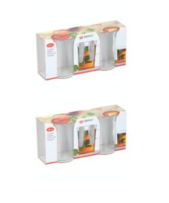 Transparante theeglazen verpakking