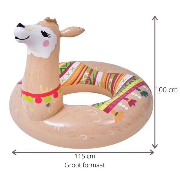 afmetingen Alpaca zwemband