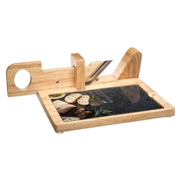 Borrelplank met snijmachine gebruikvoorbeeld
