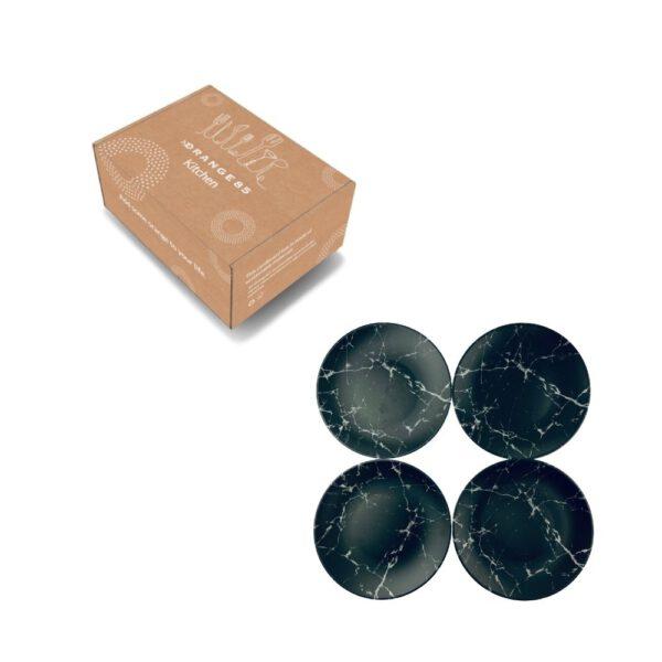 gebaksbordjes zwart in verpakking
