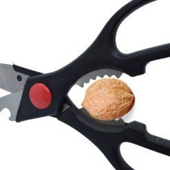 Keukenschaar RVS zwart voor walnoten kraken