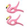 Vooraanzicht flamingo knijpers