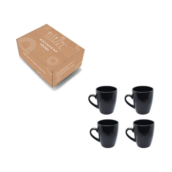 Orange85 Mokken 320 ml set van 4 Zwart 4_verpakking
