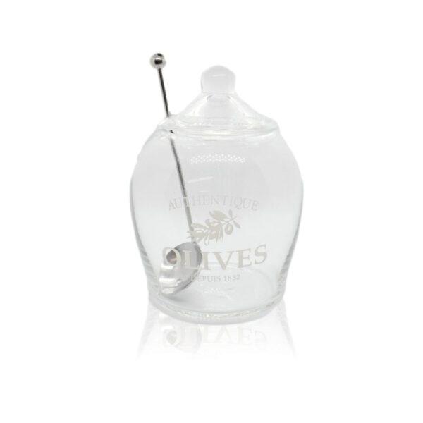 Orange85 Olijvenpot Glas met Lepel 630ml 1_voor