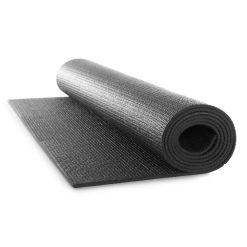 yoga mat zwart vooraanzicht