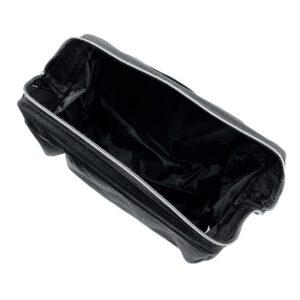 Bovenaanzicht toilettas zwart