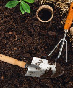 Tuinschepje RVS in situatie