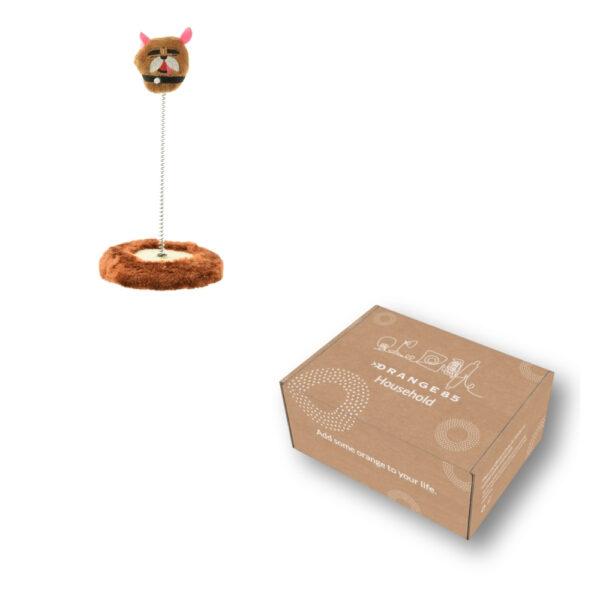 Kattenspeelgoed veer in doos