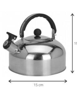 Afmetingen Fluitketel voor Gas