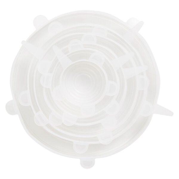 Vooraanzicht herbruikbare silicone deksels