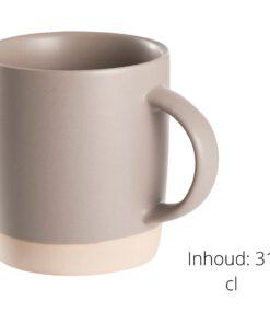 Detail koffiekopjes steen grijs