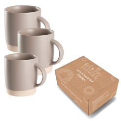 Verpakking koffiekopjes steen grijs