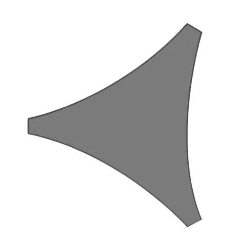 Orange85 Schaduwdoek Driehoek Grijs 3x3x3 meter 1_voor