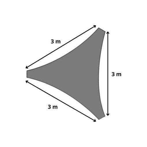 Orange85 Schaduwdoek Driehoek Grijs 3x3x3 meter 3_detail