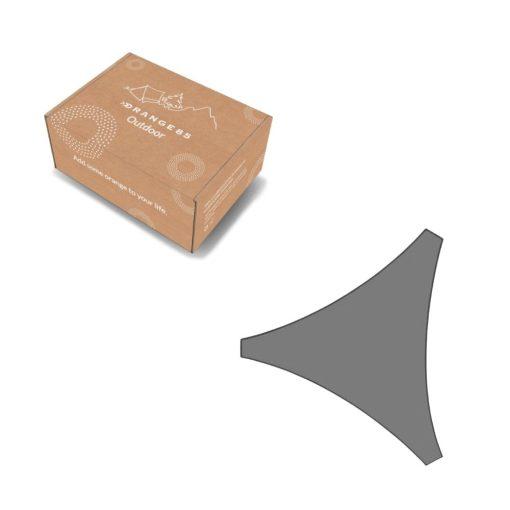 Orange85 Schaduwdoek Driehoek Grijs 3x3x3 meter 4_verpakking