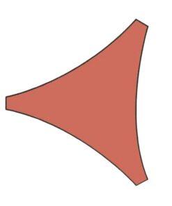 Orange85 Schaduwdoek Driehoek Terracotta 5x5x5 meter 1_voor