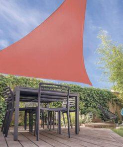 Orange85 Schaduwdoek Driehoek Terracotta 5x5x5 meter 2_sfeer