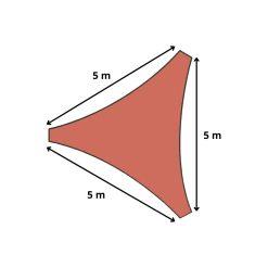 Orange85 Schaduwdoek Driehoek Terracotta 5x5x5 meter 4_detail