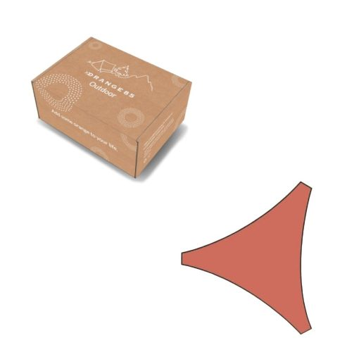 Orange85 Schaduwdoek Driehoek Terracotta 5x5x5 meter 5_verpakking